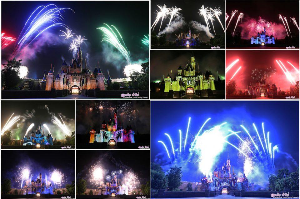 """การแสดงดอกไม้ไฟ """"Disney in the Stars"""" ครบรอบ 10 ปี ฮ่องกงดิสนีย์แลนด์"""