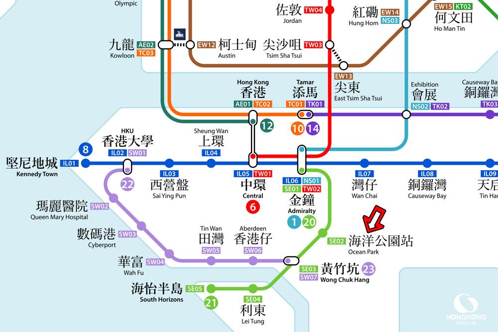 การเดินทาง เจ้าแม่กวนอิมริมทะเล ฮ่องกง